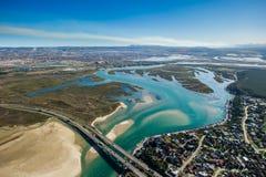 Port Elizabeth błękitne wody zatoka Południowa Afryka Zdjęcia Royalty Free