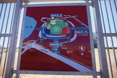 Port Elizabeth Stadion Fußball-Weltcup 2010 Stockfotos