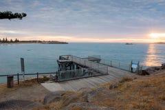 Port Elliot Jetty, södra Australien royaltyfri bild