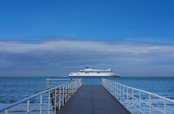 Port, embark on a sea. Voyage royalty free stock photography