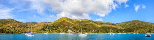 Port en Îles Vierges britanniques images libres de droits