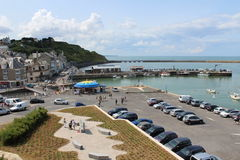Harbor Port En Bessin Huppain Normandy In France Stock Photo - Location port en bessin