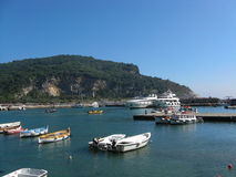 Port en Italie Photographie stock
