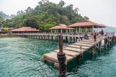 Port en plage de Trang Photographie stock