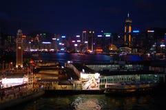 Port en ville de Hong Kong Photos stock