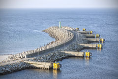 Port entrance. Royalty Free Stock Image