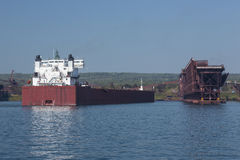 Port entrant de bateau image stock