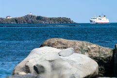Port entrant de ferry Photographie stock libre de droits