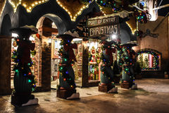 Port of Entry Christmas in Universal City in Orlando, Florida Royalty Free Stock Photography