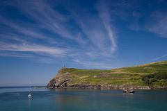 Port Erin. Sceneic seascape of Port Erin in the Isle of Man Royalty Free Stock Photography