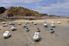 Port of Erquy in France Stock Image