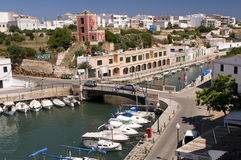 port Espagne de menorca de ciutadella Image stock