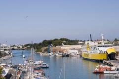 port Espagne de menorca de ciutadella Images stock