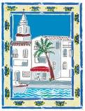 Port espagnol illustration de vecteur