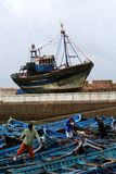 Port in Essaouira #6. View at the fishing boats from port in Essaouira Stock Photography