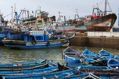 Port in Essaouira #7. View at the fishing boats from port in Essaouira Royalty Free Stock Photo