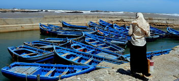 Port of Essaouira, Morocco Royalty Free Stock Photos
