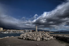 Port of Estepona in the province of Málaga. View of the port of Estepona in the province of Málaga Stock Images