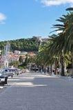 Port et forteresse de ville de Hvar Photographie stock libre de droits