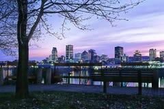 Port et horizon de Montréal Image libre de droits