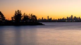 Port et horizon de Toronto juste avant le lever de soleil images stock