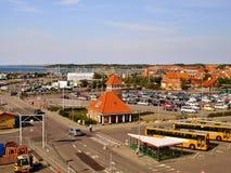 Port et terminal du ferry dans Ronne Photos libres de droits