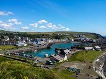 Port et village de Portpatrick images libres de droits