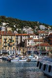 Port in a european town royalty free stock photo