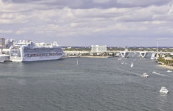 Port Everglades in Fort Lauderdale, Florida Royalty Free Stock Images