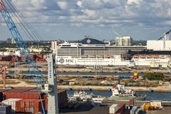 Port Everglades in Fort Lauderdale, Florida royalty free stock photography