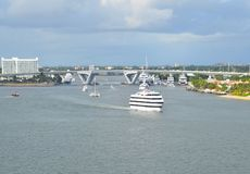 Port Everglades in Fort Lauderdale Stock Photos