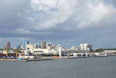 Port Everglades in Fort Lauderdale Stock Images