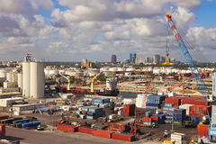Port Everglades in Ft. Lauderale, Florida Royalty Free Stock Image