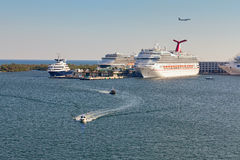 Port Everglades In Fort Lauderdale, Florida Royalty Free Stock Image