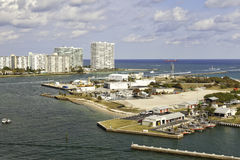 Port Everglades Inlet in Fort Lauderdale, Florida Stock Image