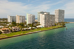 Port Everglades Inlet to Atlantic Ocean Stock Image
