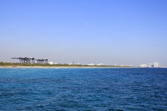 Port Everglades Seen from Dania Beach stock images