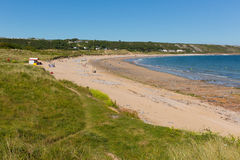 Port Eynon Bay The Gower Peninsula Wales uk popular tourist destination Stock Image