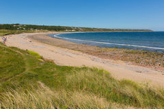 Port Eynon beach The Gower Wales uk popular tourist destination. Port Eynon Bay The Gower Peninsula Wales uk popular tourist destination and near Oxwich and royalty free stock images