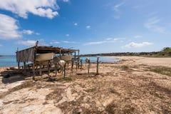 Port för Es Pujols i Formentera Arkivbild