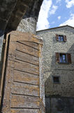 Port för forntida stad i Cortona, Italien Royaltyfri Foto