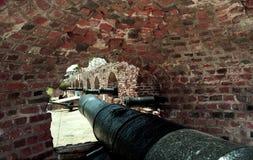 Port för fortCharles kanon Arkivfoton