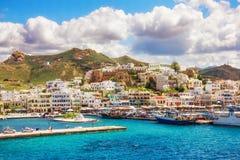 port för greece önaxos Royaltyfri Foto