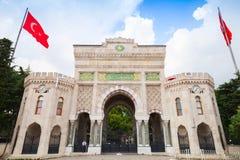 Port för huvudsaklig ingång av det Istanbul universitetet Royaltyfria Foton