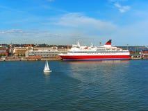 port för kryssningfinland helsinki eyeliner Royaltyfria Foton