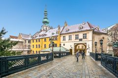 Port för Michael ` s i Bratislava slovakia royaltyfria foton