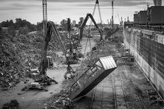 Port för omlastning för restmetall Royaltyfria Foton