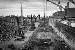 Port för omlastning för restmetall Royaltyfri Foto