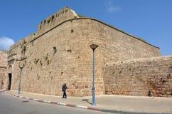 Port för tunnlandAkko gammal stad - Israel arkivfoto