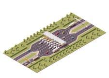 Port för vektorhuvudvägavgift stock illustrationer
